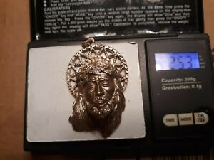MEN 925 STERLING SILVER ICY DIAMOND BLING 3D JESUS FACE CHARM PENDANT 25#grams