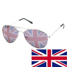 BRITISH ENGLAND UK Flag Sunglasses United Kingdom Aviators Glasses Union Jack