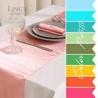 "1/10/20pcs 12x108"" Satin Table Runners Wedding Party Venue Decoration 30 Colors"