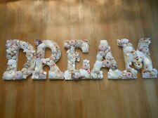 Shell Letters, Beach Decor DREAM Shell Letters Sign, Seashells, Wedding Gift