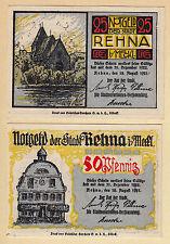 Rehna -Stadt- Vollst. Serie, 2 Scheine (L 1079 a)