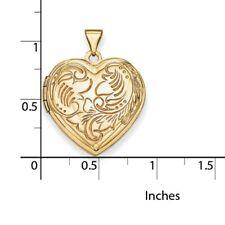 14k Yellow Gold Domed Heart Locket.