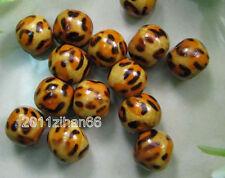 Wholesale 100pcs Leopard Grain Design Charm bead Wood Beads 10MM