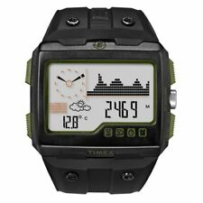 New* Timex Expedition WS4 Watch T49664 Black/Green Altimeter Compass Barometer