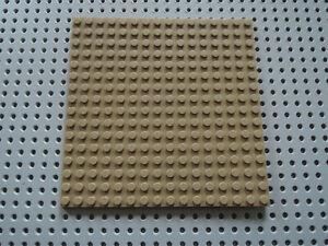 16x16 91405 beige Lego ® Bauplatte beidseitig bebaubar dark tan