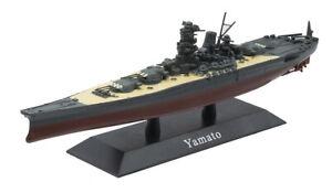 "Battleship IJN Yamato 1:1250 8.25"" De-Agostini Diecast WWII Japanese Ship Model"