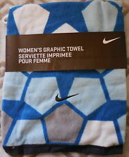 Nike Graphic Towel Women's Blues/White/Gray/black 100% Cotton Small New