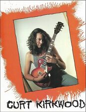 The Meat Puppets Curt Kirkwood with his Gibson Les Paul Guitar 8 x 11 ad print