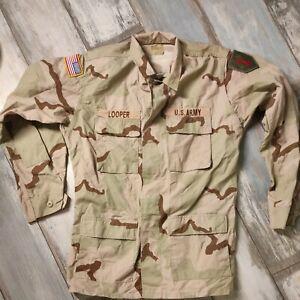 ARMY Desert DCU Uniform Hemd original Medium Xtra Long von 1999 mit Abzeichen