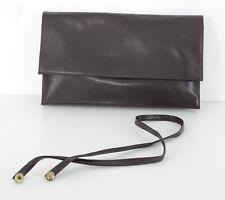 US811 Vintage Real brown Leather Handbag Purse Cluth Bag  Ledertasche Handtasche