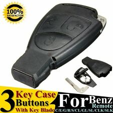 3 Buttons Remote Key Fob Case Shell For Mercedes Benz R/E/C/S/ML/CL/CLK/CLS/SLK