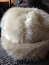 Ladies Cream/Ivory River Island Faux Fur Hat - One Size