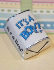 30 Baby Shower Its a Boy Blue Hershey Candy Nugget Wrappers Stickers