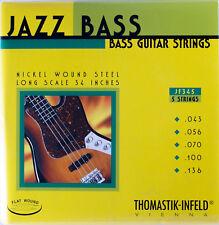 Thomastik-Infeld JF345 T-I Jazz Flatwound Bass Guitar Strings - Long Scale - 5-S