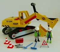 Playmobil Building Excavator 3001 with 2 Workmen Figures & Accessories