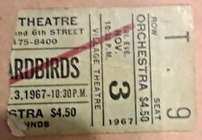 Yardbirds 1967 concert ticket stubb