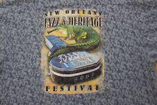 Mens XL New Orleans Jazz & Heritage Fest 2002 Collectibles T Shirt Vintage gator
