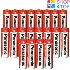 20 PANASONIC ZINC CARBON AA LR6 BATTERIES 1.5V MIGNON MN1500 NEW