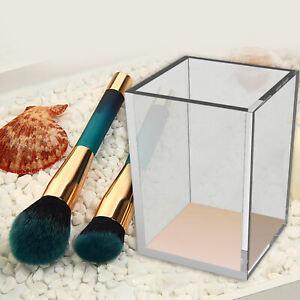 Transparent Acrylic Makeup Brush Holder Tabletop Organizer Cosmetic Storage