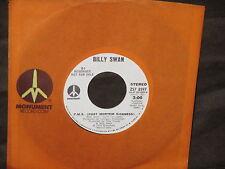 "Billy Swan ""Wedding Bells/P.M.S.(Post Mortem Sickness)""45 PROMO"