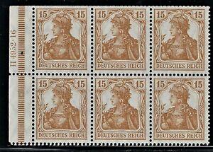 "GERMANY  1916  ""GERMANIA Booklet Pane Broschurenfenster:   H-Blatt 13,   Mint/NH"