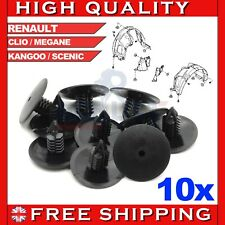 10x RENAULT WHEEL ARCH LINING SPLASH GUARD TRIM SPRUCE CLIPS CLIO SCENIC MEGANE