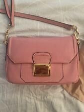 Pink Miu Miu Madras Leather Satchel