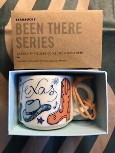 Starbucks 2oz Demi Tasse TEXAS BEEN THERE mug Ornament Cup Mini Mug