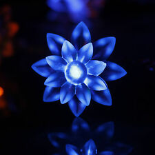 50 LED Battery Powered Lotus Flower String Fairy Light Lamp F Party In/ outdoor