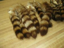 Large Tanned Cinnamon Raccoon Tail Coon Fur Crafts 1 Tail Only