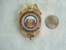Security Officer Badge Liberty & Justice for All