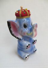 Vintage Elephant Figurine Sewing Caddy Pin Cushion withTape Measure Japan 1960s