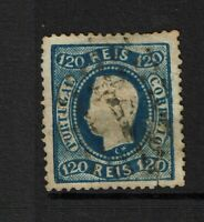 Portugal SC# 32, Used, mixed cond, multiple shallow thins, repaired tear - S9825
