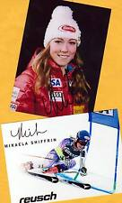 Mikaela shiffrin - 2 top autógrafo-imágenes (8) - Print copies + ski ak firmado