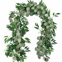 Kranz Eukalyptus Gefälschte Blatt Anlage Girlande Reben Künstliche Hochzeit