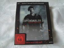 THE EXPENDABLES2 Blu-Ray lenticular SteelBook HERO BOX NEW&SEALED cards banner