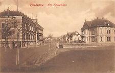 Reichenau Sachsen Kinder am Amtsgericht , Strassenansicht Postkarte