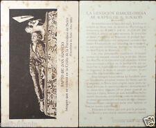 OLD BLESSED RAPTURE SAINT IGNATIUS HOLY CARD JESUIT ANDACHTSBILD SANTINI   CC707