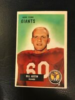1955 Bowman Bill Austin New York Giants #11 Football Card