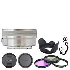 Sony E PZ 16-50mm f/3.5-5.6 OSS Lentes Plata + Kit de accesorios de lujo