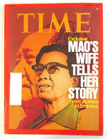 1977 MAO'S WIFE TELLS HER STORY Time Magazine Vintage China Zedong History March