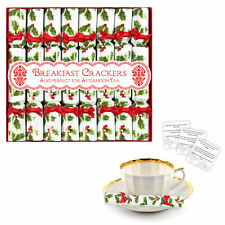 8 Luxury Miniature Crackers Breakfast, Afternoon Tea, Saucer Cracker - Holly
