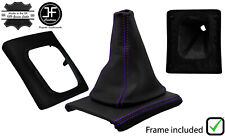 PURPLE STITCH LEATHER GEAR BOOT+SURROUND BASE FRAME FOR VW GOLF MK3 JETTA 91-98