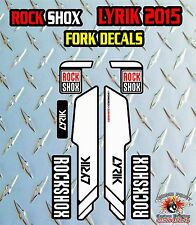 ROCK SHOX LYRIK 2015 FORK Stickers Decals Graphics Mountain Bike Down Hill MTB