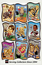 SET-1997 AFL Footy Oddbodz In Hypervision Mini Caricature Card Base Set (57)