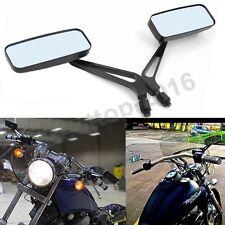 Black Motorcycle Rearview Side Mirrors For Harley Davidson Street Bike Chopper