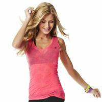 Zumba Fitness Sleeveless V-Neck Tank Top Shirt, Brand New With Tags, Ships Fast!