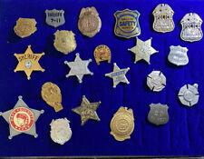 21 Police Badge Pinback Metal Junior Sheriff Fire Chief Inspector Lot