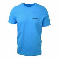 Nautica Men's Turquoise Logo S/S Tee