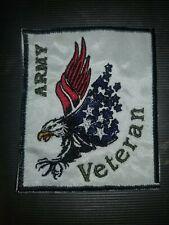 """Army Veteran"" sew on/iron on patch        10116"